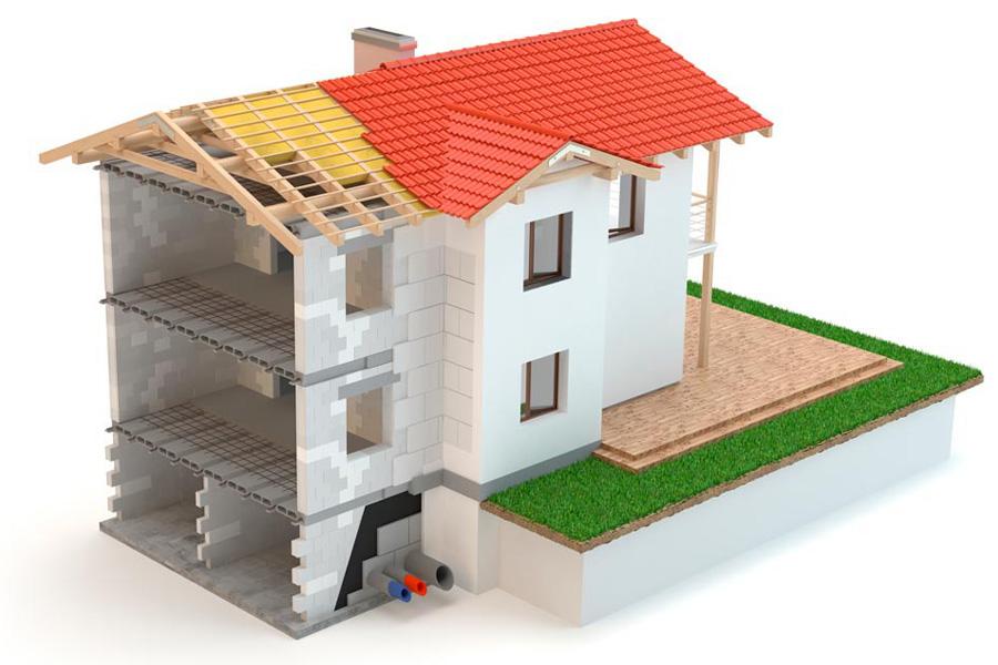 Основные три этапа строительства здания
